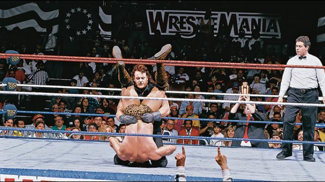 The Undertaker's First Year in WWE - The Undertaker delivers a tombstone piledriver to Jimmy Snuka at WrestleMania 7