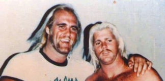 Young Hulk Hogan and Brutus Beefcake (Dizzy Hogan)