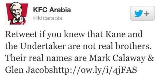 The Iron Sheik -- KFC Arabia breaking kayfabe on The Undertaker and Kane