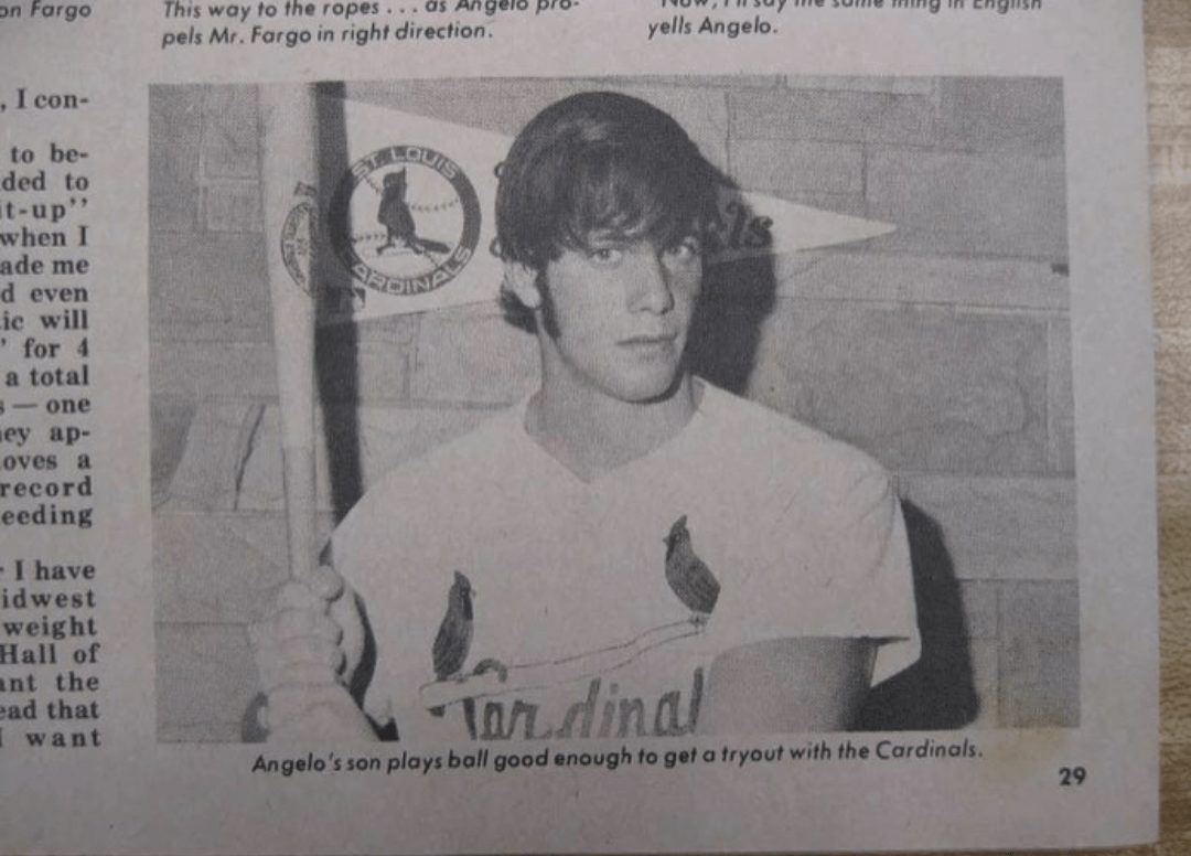 A young Randy Poffo signed to the St. Louis Cardinals organization after a free-agent open tryout. He was the only one who received a contract offer out of more than 200 who attended.