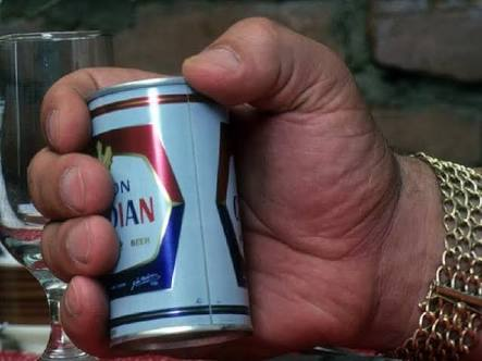 Andre the Giant Documentary | 12 Things Learned (And Facts Left Out!) - Andre's large hand wrapped around a beer can