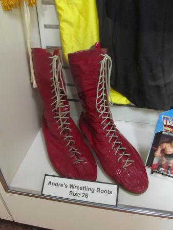 Andre the Giant Documentary | 12 Things Learned (And Facts Left Off!) - A picture of Andre the Giant's size 26 wrestling boots