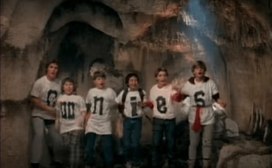 Wrestler cameos in music videos - Characters from the movie The Goonies appear in Cyndi Lauper's 'Goonies R Good Enough' music video