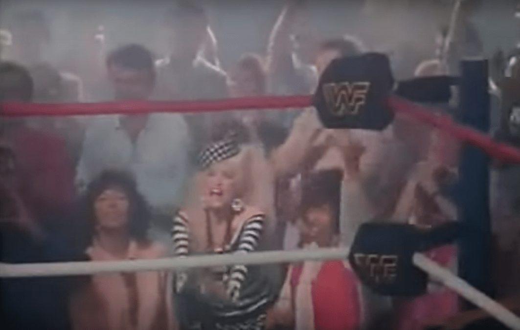 Wrestler cameos in music videos - Dolly Parton screams