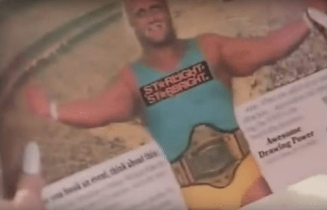 Wrestler cameos in music videos - Hulk Hogan plays the role of 'Starlight Starbright' in Dolly Parton's 'Headlock on My Heart' music video