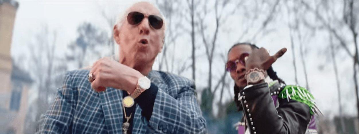 Wrestler Cameos in Music Videos - Ric Flair cameos in 21 Savage, Offset & Metro Boomin's 'Ric Flair Drip' music video