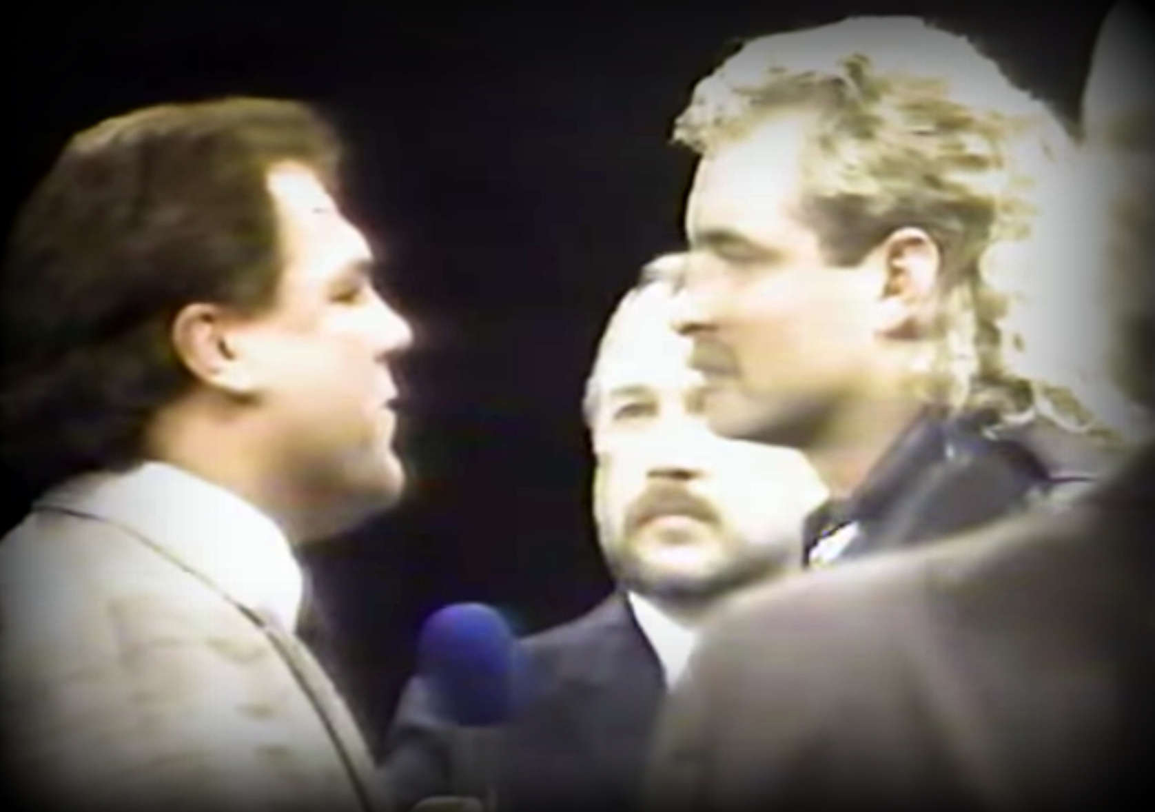Moments before Tully Blanchard attacked an injured Magnum TA