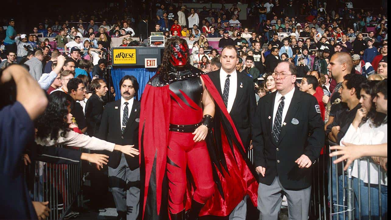 Kane debuts at a house show wearing a cape