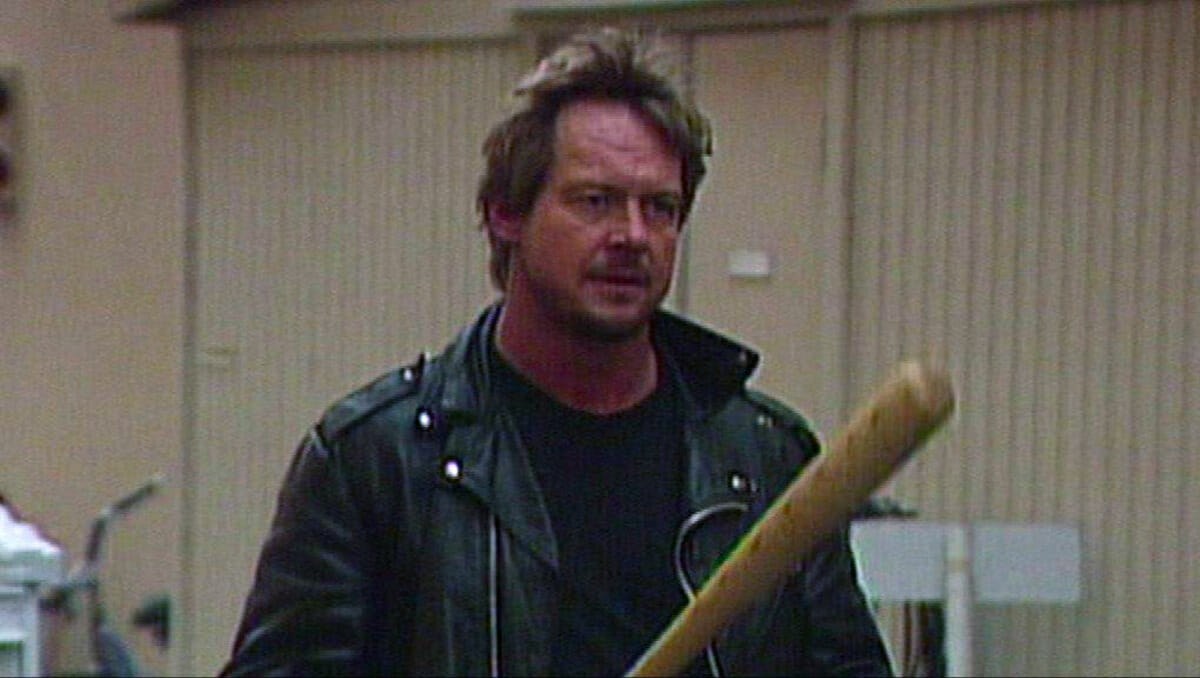 Roddy Piper during his backstage brawl against Goldust at WrestleMania 12 - a match he almost had against OJ Simpson.