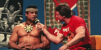 "Legendary Piper's Pit segment in 1984, just before Roddy Piper hit Jimmy ""Superfly"" Snuka with a coconut!"