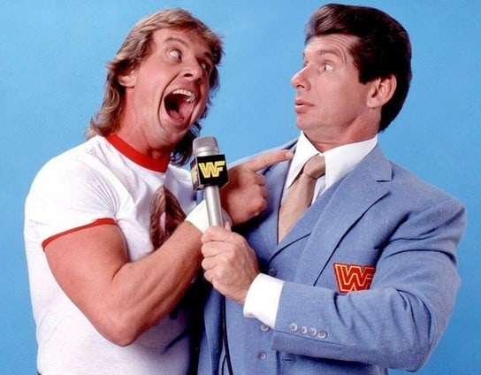 Roddy Piper with Vince McMahon
