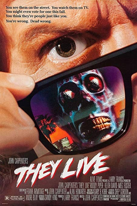 Roddy Piper in John Carptener's movie They Live (movie poster)