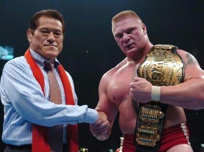 Antonio Inoki and Brock Lesnar