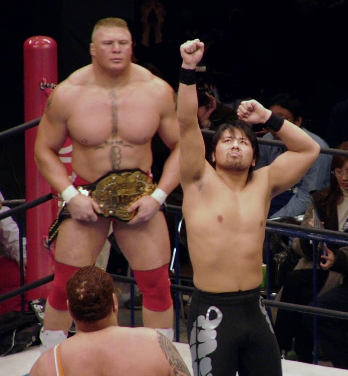 Brock Lesnar sizes up Shinsuke Nakamura