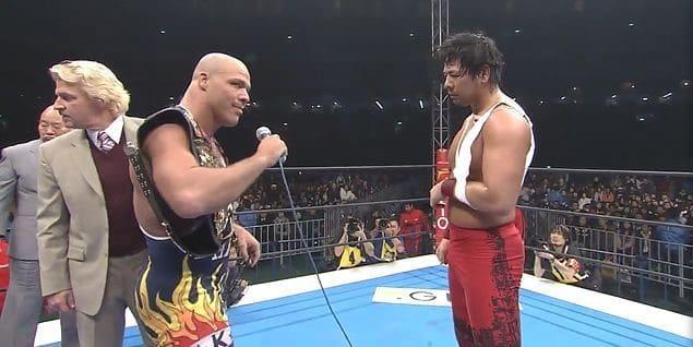 Angle challenges Nakamura