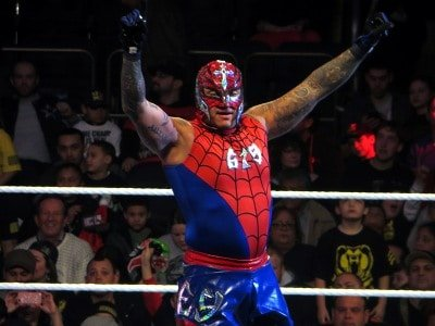 Rey Mysterio in his Spider-Man attire would make one last appearance at a non-televised WWE live event at Madison Square Garden in 2013 in a match against Alberto Del Rio.