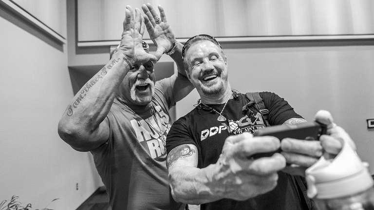Hulk Hogan and DDP in later years.