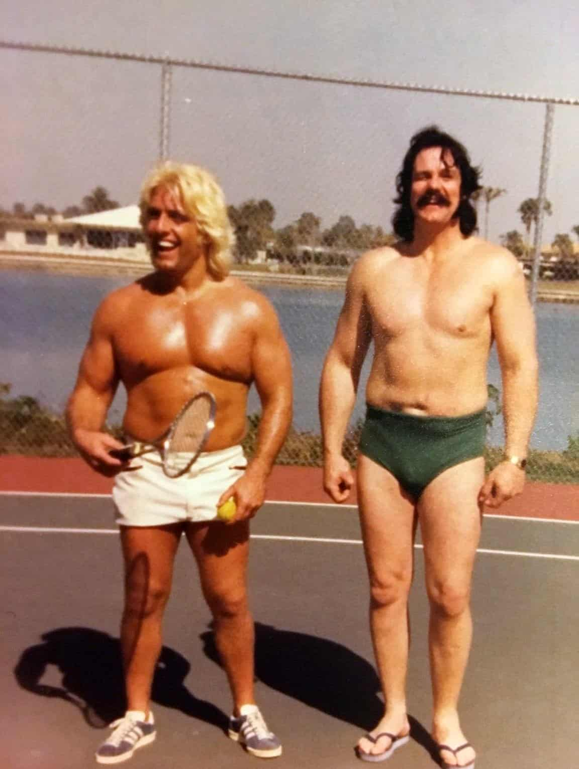 A little tennis with Ric Flair and his good friend Blackjack Mulligan