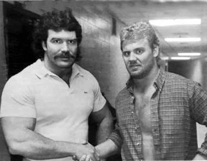 Scott Hall and Curt Hennig during their AWA days.