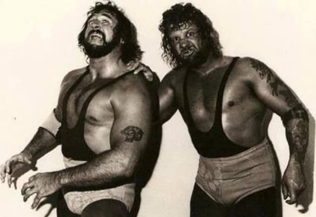 Butch and Luke of The Bushwhackers, then known as The Sheepherders
