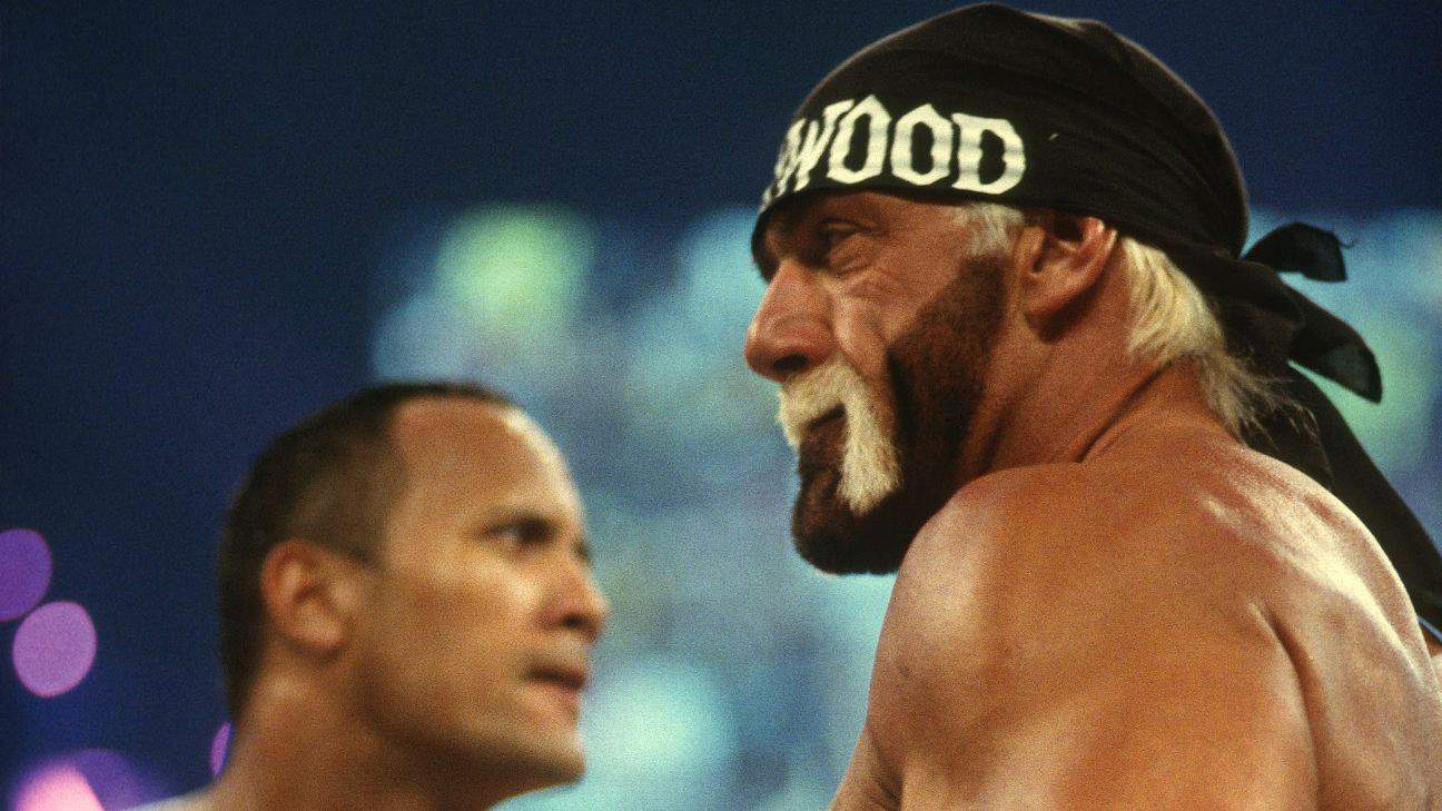 The Rock vs Hulk Hogan at WrestleMania X8. Icon vs Icon. One of the greatest WrestleMania moments of all time.