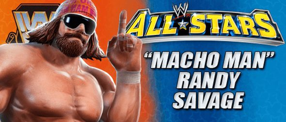 Macho Man Randy Savage featured in a WWE All Stars video game advert