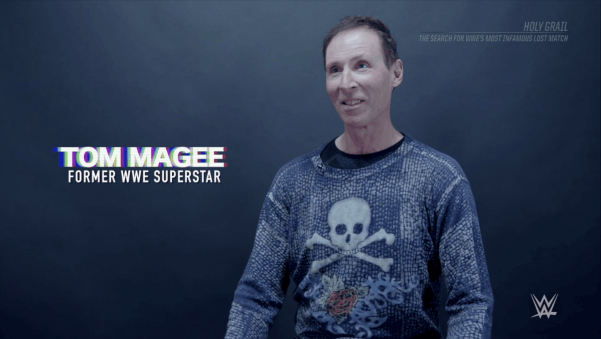 Tom Magee, looking much better and happier since last year's disturbing news report, discussed how pleased he was that fans still have interest in him and this match thirty-three years after the fact.