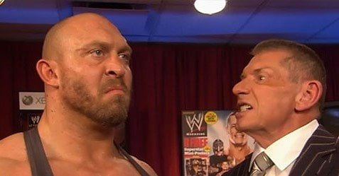 Ryback, seen here with Chairman and CEO of WWE, Vince McMahon, is one of only a few former employees making a stink publicly about the way workers are treated within the company.