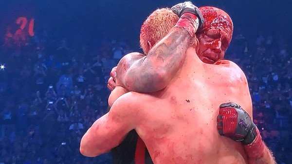 'I don't need a partner... I don't need a friend... I need my older brother!' Cody and Dustin Rhodes have an emotional (and bloody!) embrace at the culmination of their match at AEW's Double or Nothing pay-per-view.