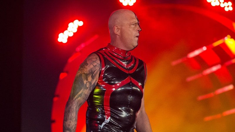 Dustin Rhodes debuts his new look at AEW's Double or Nothing pay-per-view, red and black with half his face painted