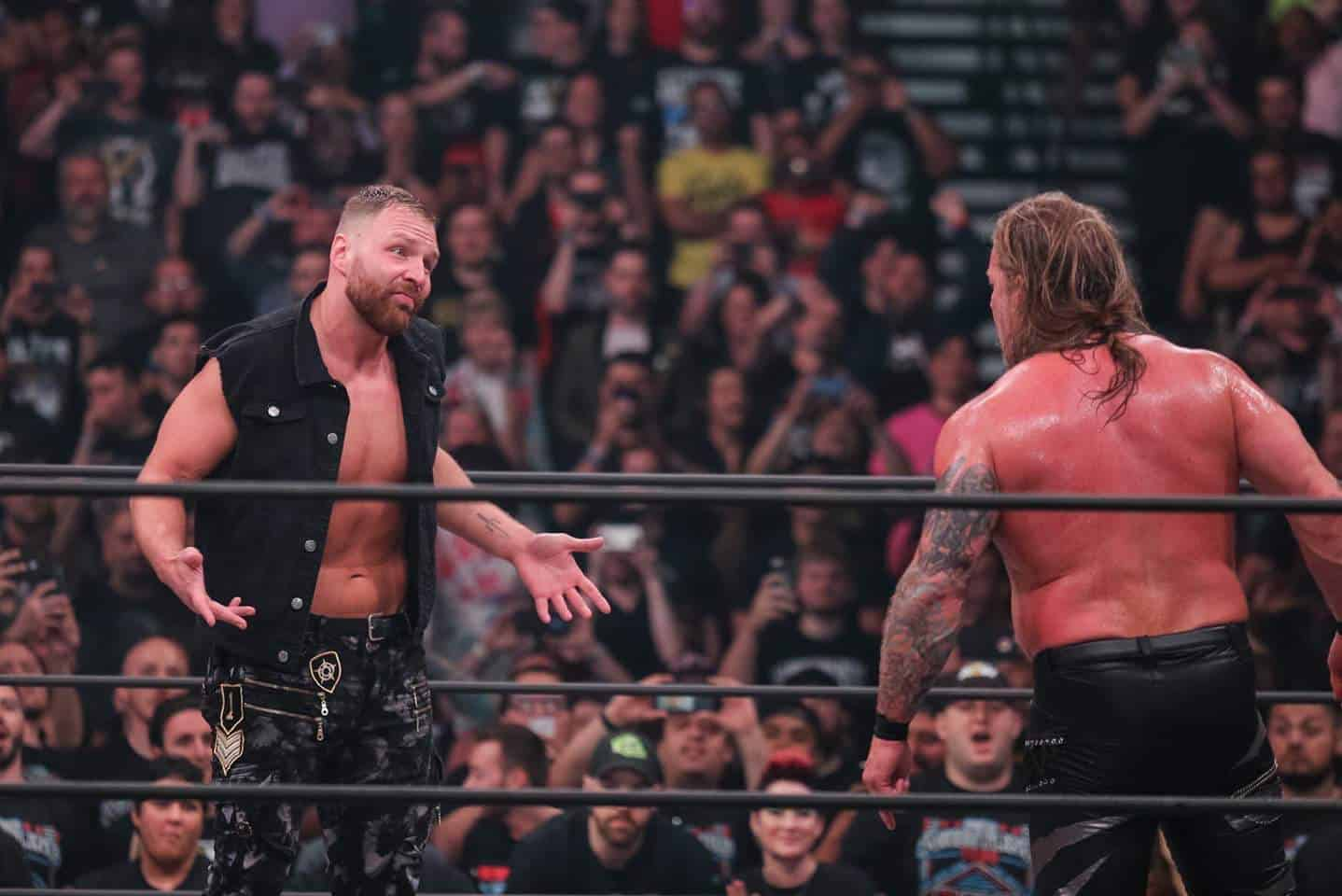 Jon Moxley makes a surprise appearance at AEW's Double or Nothing pay-per-view facing off with Chris Jericho
