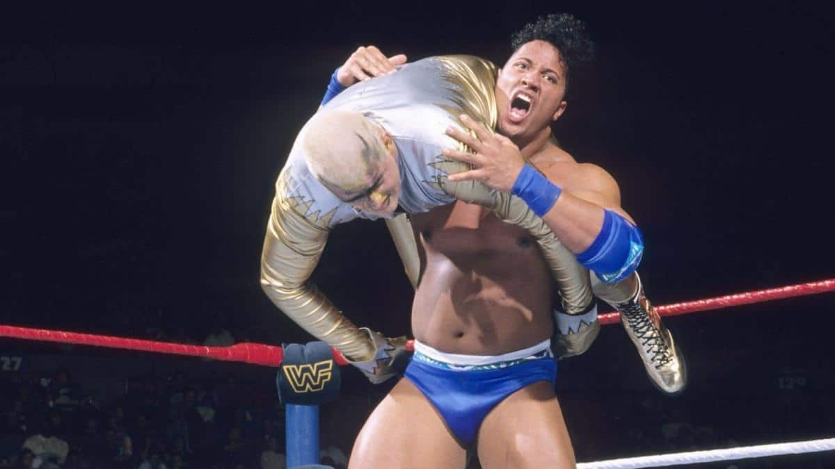 "The Rock, then known as ""Rocky Maivia"", used the Running Shoulder Breaker as his original signature move"