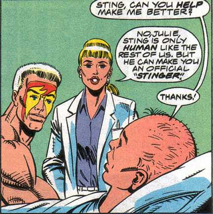 Wrestler Sting 'helps' a cancer patient in Marvel Comic's WCW: World Championship Wrestling series