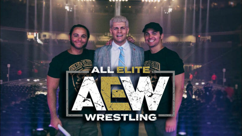 The Young Bucks and Cody Rhodes of All Elite Wrestling