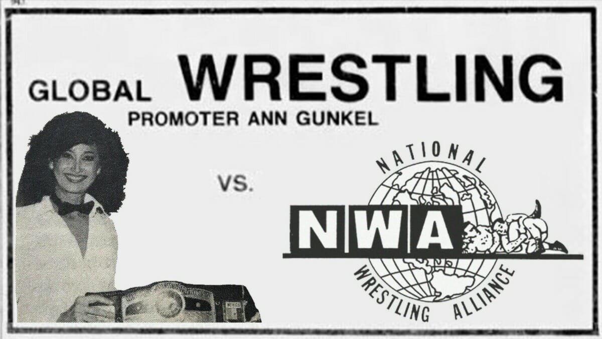 """The Battle for Atlanta - Ann Gunkel vs the NWA and how they finally crushed her """"outlaw"""" promotion. [photo design: JP Zarka of ProWrestlingStories.com]"""