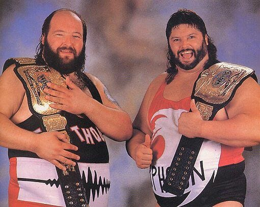 WWF Tag Team Champions, The Natural Disasters (Earthquake and Typhoon)