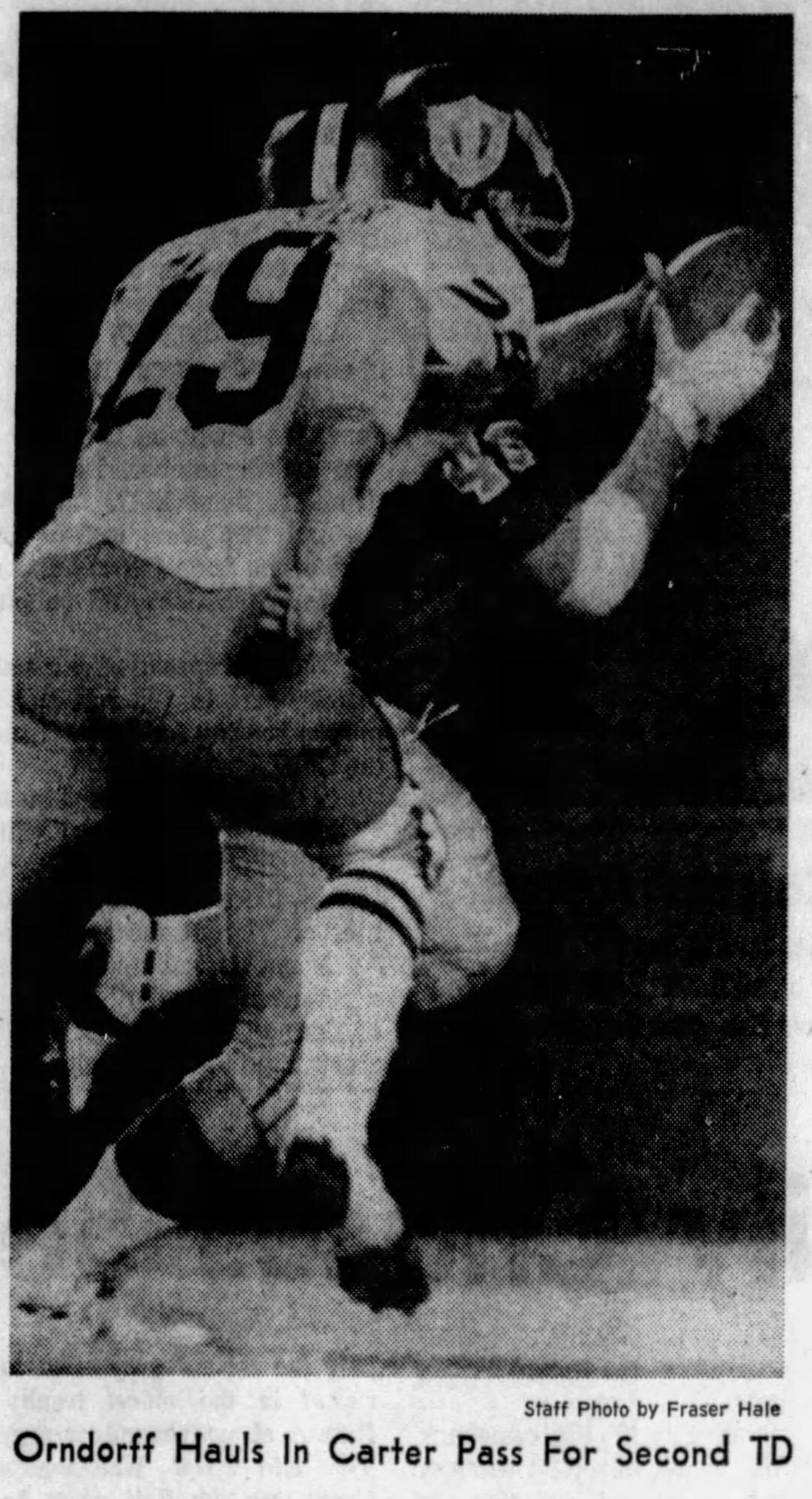 Orndorff scored twice in the University of Tampa's Tangerine Bowl appearance against Kent State in 1972
