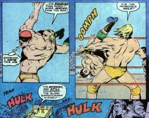 Scenes from March 10, 1990's Marvel Comics Presents #45 - Hulk Hogan versus The Incredible Hulk