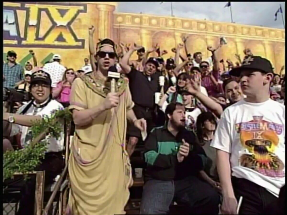 Todd Pettengill at WrestleMania IX
