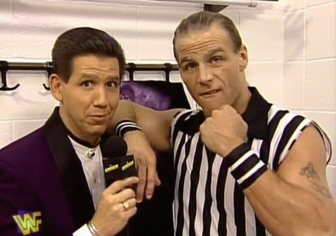 Todd Pettengill interviews Shawn Michaels at SummerSlam 1997. This was Pettengill's last pay-per-view with the company.