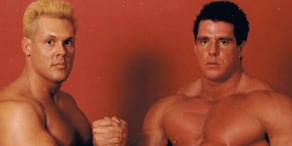 A young Sting and Ultimate Warrior fresh-faced and just starting off in the business, 1985.