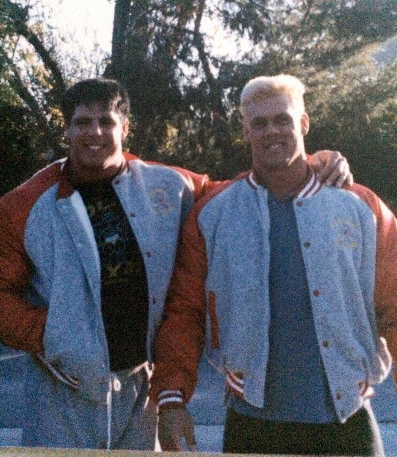 Jim Hellwig and Steve Borden (Ultimate Warrior and Sting), pictured here soon after they met in 1985, discuss paying their dues and what their relationship was like outside of the ring.