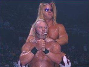 Lenny Lane and Lodi as the West Hollywood Blondes in WCW