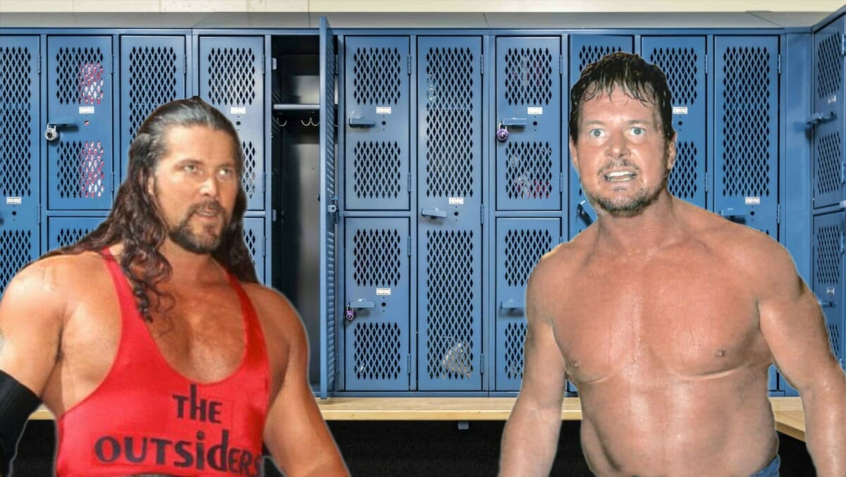 A fight between Kevin Nash and Roddy Piper took place backstage at WCW's Slamboree '97 pay-per-view. Here, both men give their differing takes on what happened. [Photo design: JP Zarka of ProWrestlingStories.com]