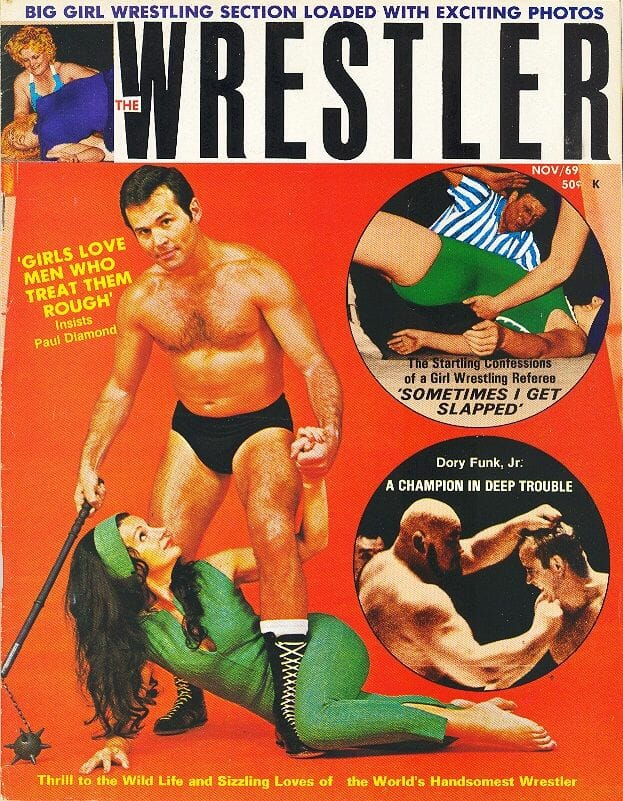 The Wrestler, November 1969, the edition where I appeared in the Pen Pal section.