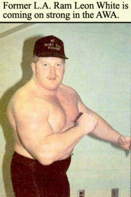 "Leon ""The Baby Bull"" White in his early days with the AWA."