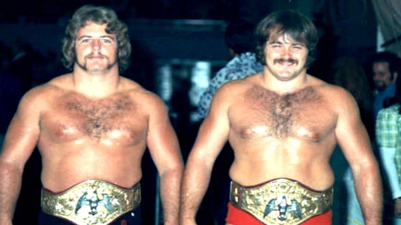 Mike Graham and Kevin Sullivan as NWA Florida tag team champions.