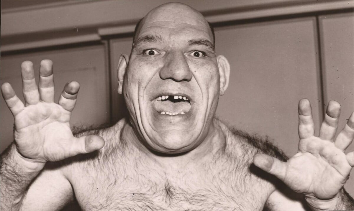 Maurice Tillet, one of the most unique looking wrestlers of all time, was a huge draw in the late '30s until the early '50s. He was born from French parents in Russia. He was also the real-life influence behind the Disney character Shrek.