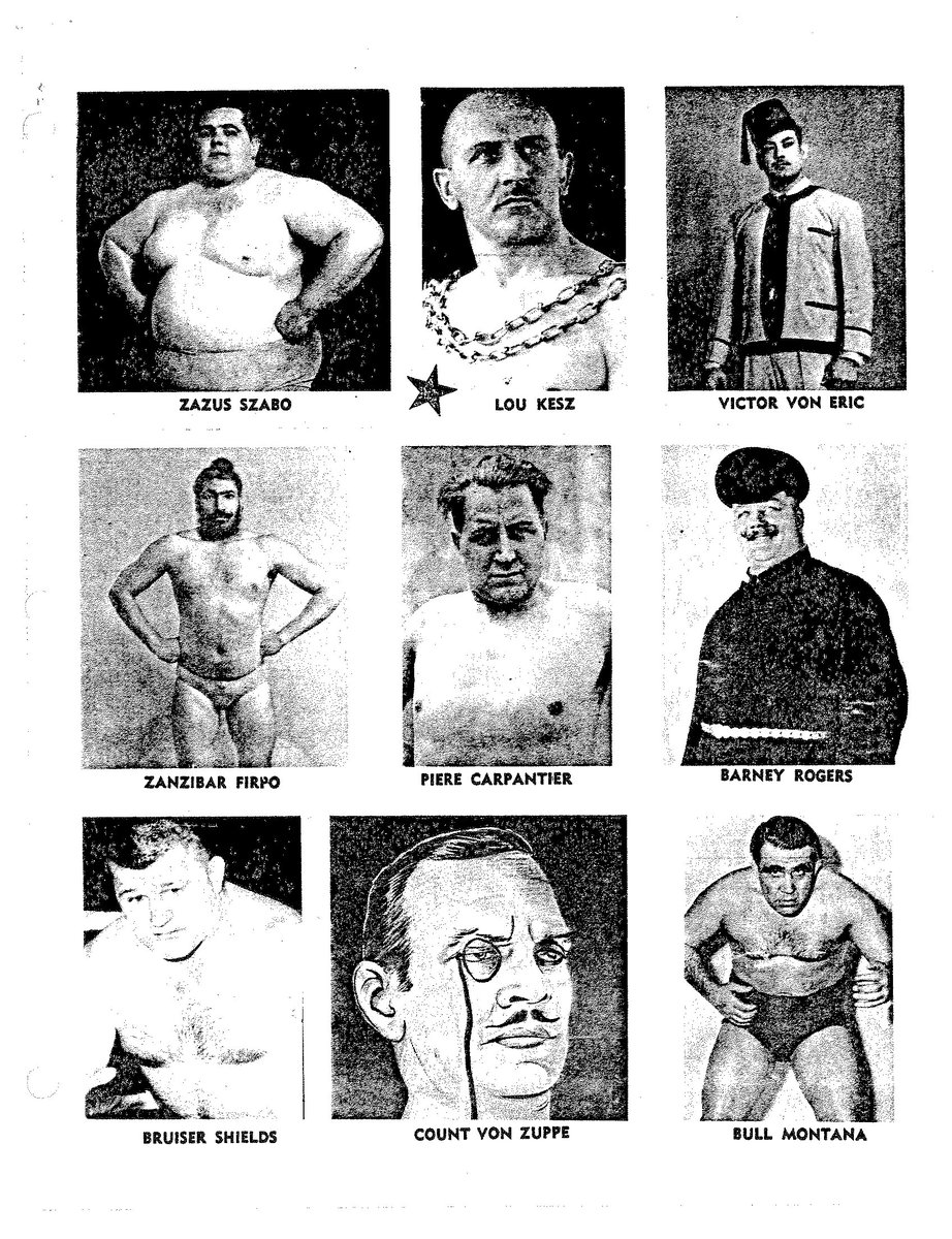 Jack Pfefer when on the outs of the established wrestling order, decided to create his own stars, kind of… See if you can name the real wrestlers these phonies were supposed to be!