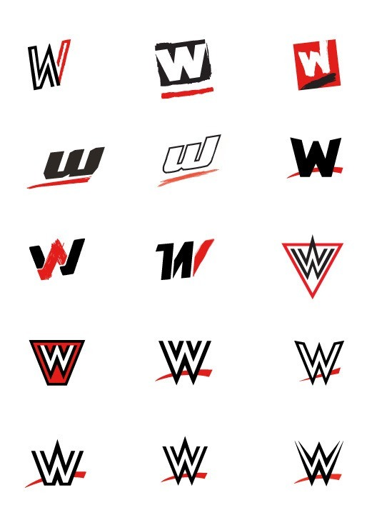 Concept art for the new WWE logo